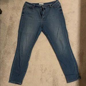 Curvy high waist skinny ankle Loft Jeans